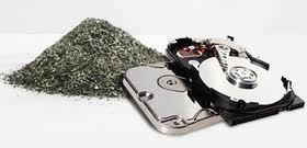hard drive shredded